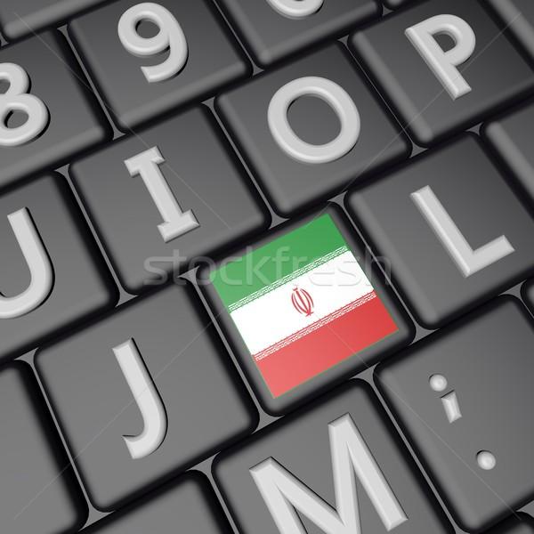 флаг ключевые Иран 3d визуализации квадратный Сток-фото © Koufax73