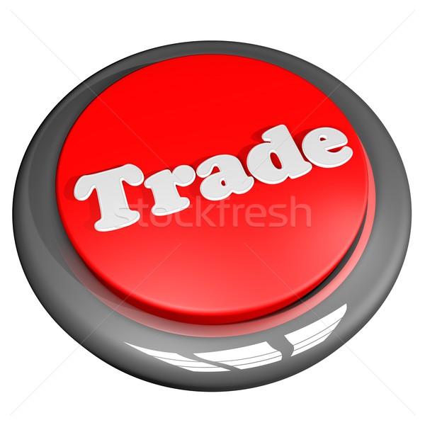 Ticaret düğme beyaz 3d render kare görüntü Stok fotoğraf © Koufax73