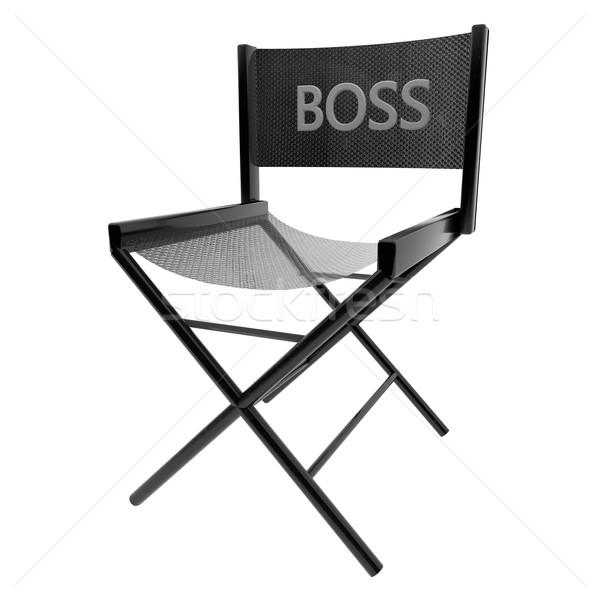 Főnök szék 3D izolált fehér 3d render Stock fotó © Koufax73