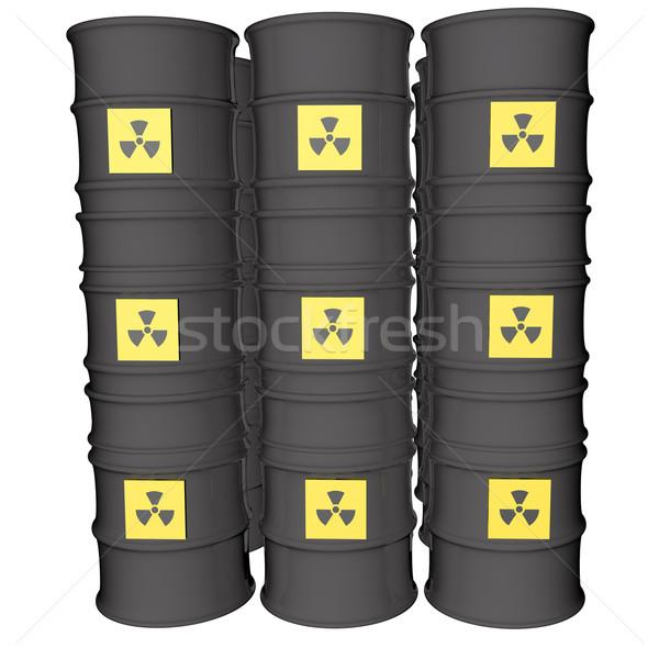 Nuclear perigo símbolo muitos isolado branco Foto stock © Koufax73