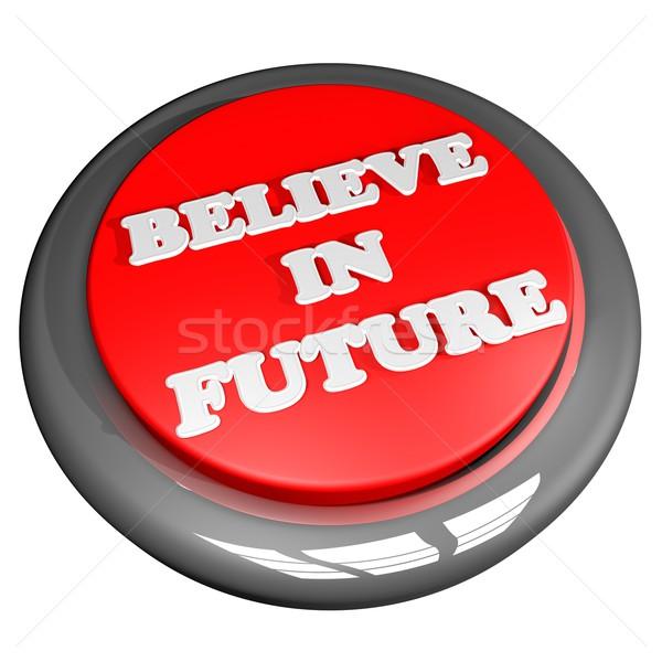 将来 ボタン 孤立した 白 広場 画像 ストックフォト © Koufax73