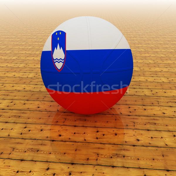 Slovenia basket bandiera rendering 3d piazza immagine Foto d'archivio © Koufax73