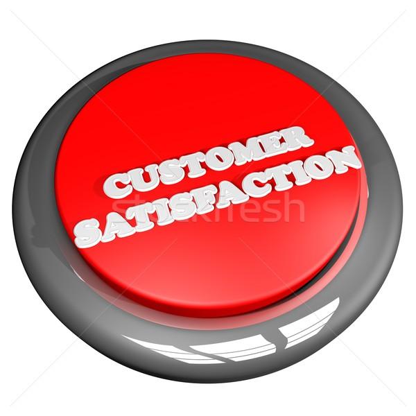 Satisfacción del cliente botón aislado blanco 3d cuadrados Foto stock © Koufax73