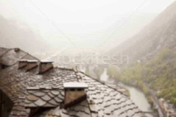 屋根 谷 画像 便利 水平な 建物 ストックフォト © Koufax73