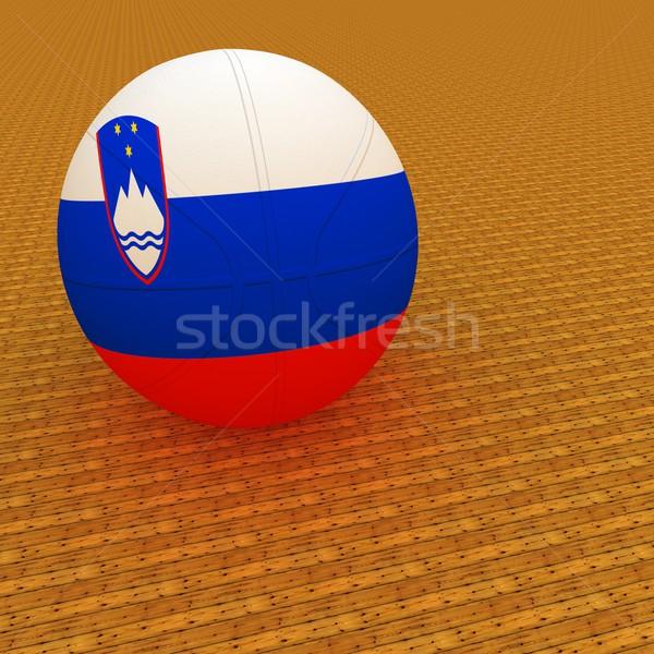 Szlovénia kosárlabda zászló 3d render tér kép Stock fotó © Koufax73