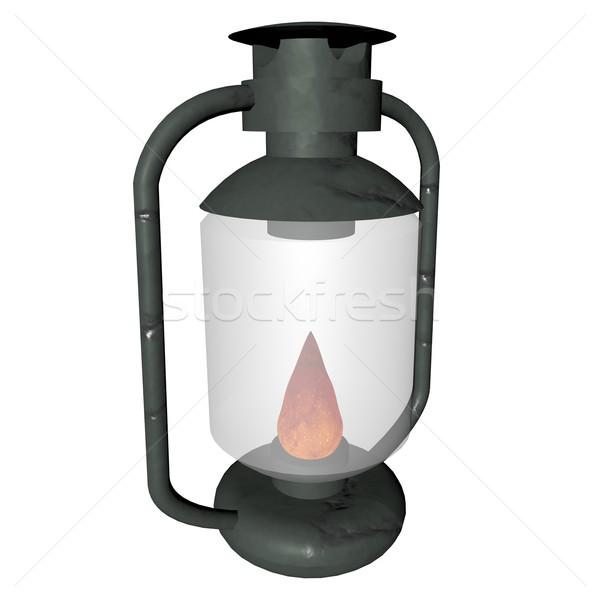 Eski lamba yalıtılmış beyaz 3d render ışık Stok fotoğraf © Koufax73