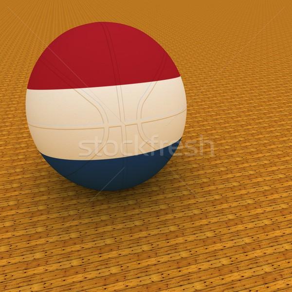 Niderlandy koszykówki banderą 3d placu obraz Zdjęcia stock © Koufax73