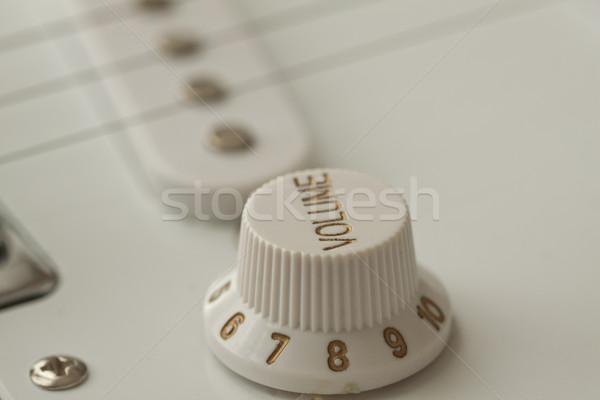 Hacim elektrogitar gitar vücut sanat Stok fotoğraf © Koufax73