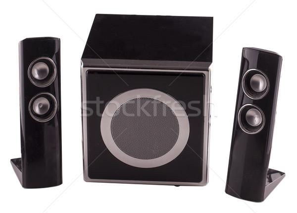 Amp tre nero isolato bianco Foto d'archivio © Koufax73