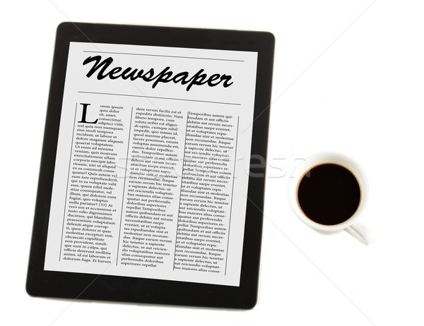 Coffee and news Stock photo © Koufax73