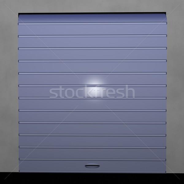 Garázs redőny zárva elöl kilátás 3d render Stock fotó © Koufax73