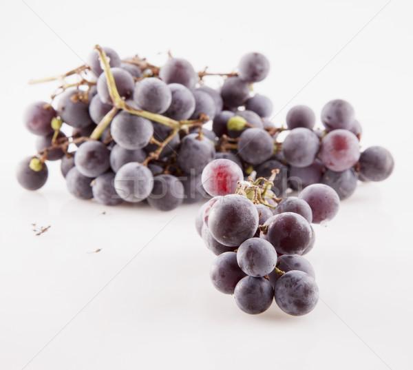 Fekete szőlő fehér vízszintes kép étel Stock fotó © Koufax73