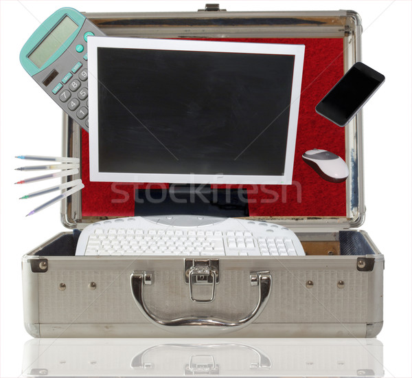 Office in the suitcase Stock photo © Koufax73