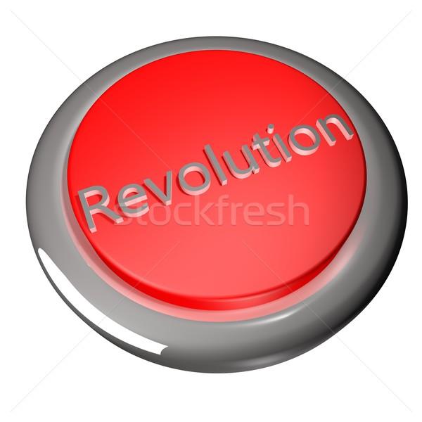 Rivoluzione pulsante isolato bianco rendering 3d tastiera Foto d'archivio © Koufax73