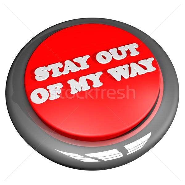 Soggiorno fuori modo pulsante isolato Foto d'archivio © Koufax73