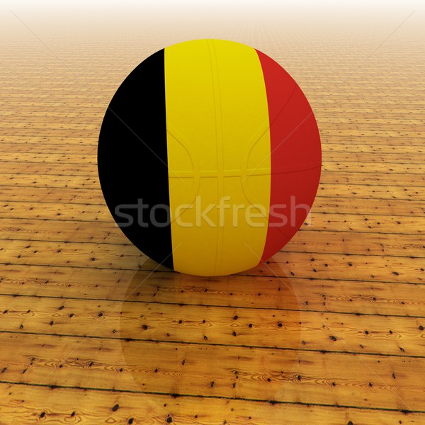 Бельгия баскетбол флаг 3d визуализации квадратный изображение Сток-фото © Koufax73