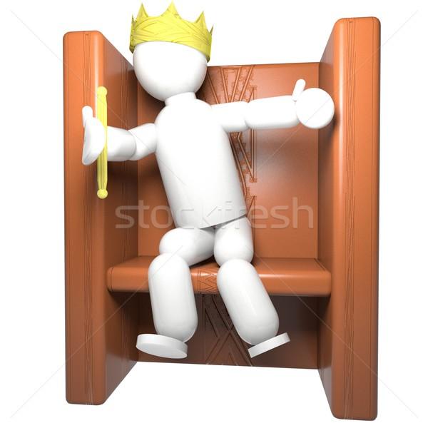 王 人形 王位 クラウン 孤立した 白 ストックフォト © Koufax73