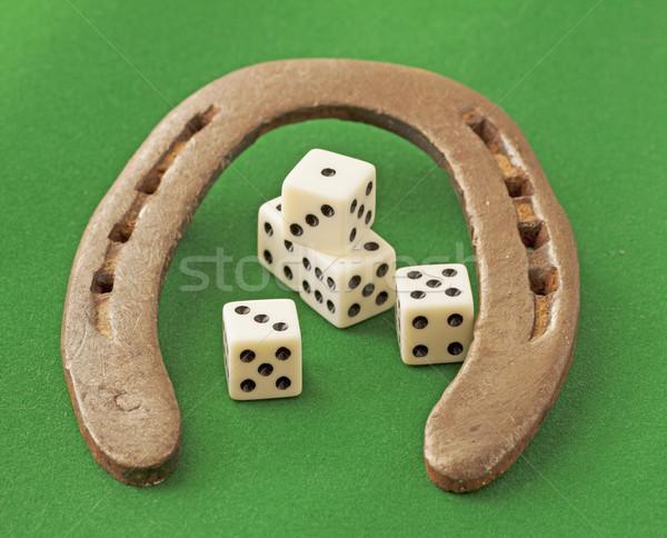 Horseshoe and dice Stock photo © Koufax73