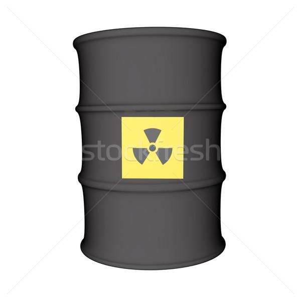 Nuclear perigo símbolo metal barril isolado Foto stock © Koufax73