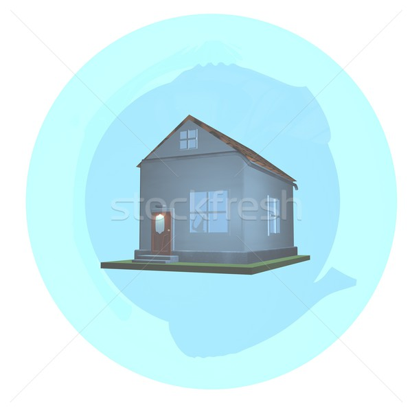 Maison bulle isolé blanche rendu 3d fond Photo stock © Koufax73