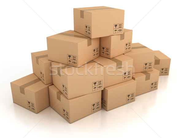 cardboard boxes Stock photo © koya79