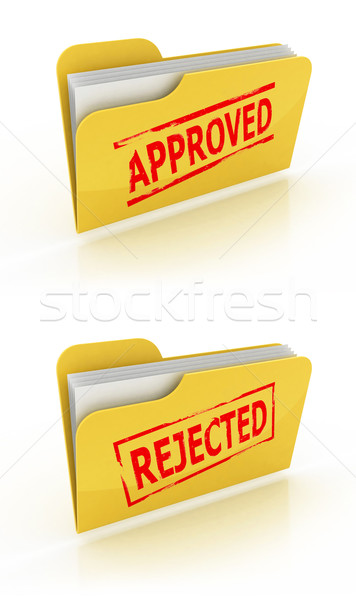 folder icon for approved / rejected documents Stock photo © koya79