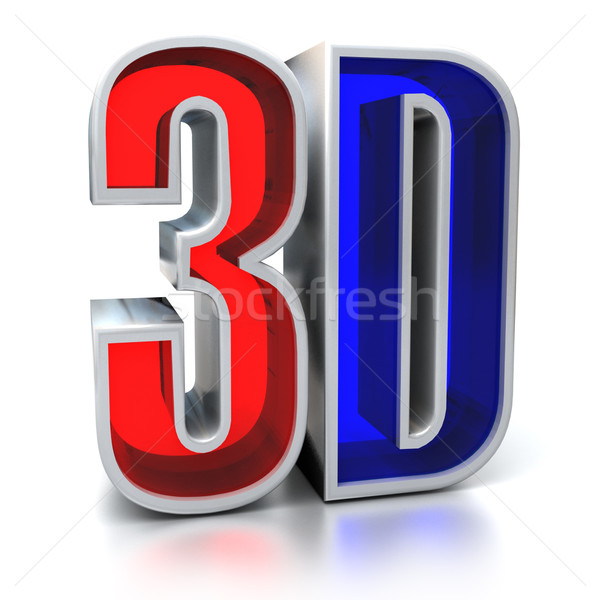 3D film imzalamak teknoloji gözlük mektup Stok fotoğraf © koya79