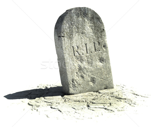 gravestone with R.I.P sign on it Stock photo © koya79