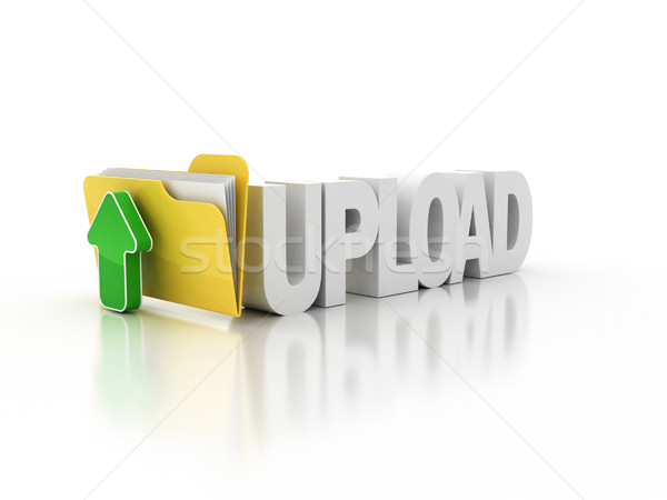 upload folder icon 3d illustration Stock photo © koya79