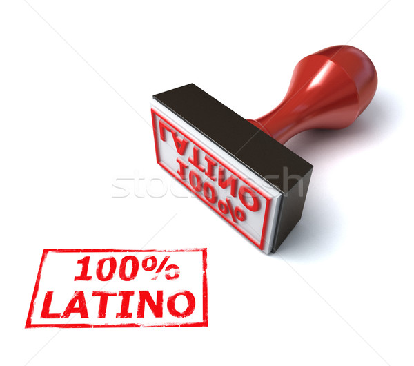 hundred percent latino stamp  Stock photo © koya79
