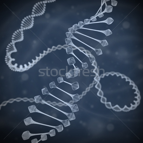 Dna 3d illustration geneeskunde wetenschap chemie tech Stockfoto © koya79