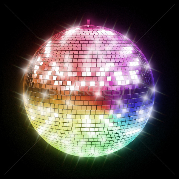 Coloré boule disco fête résumé design fond Photo stock © koya79