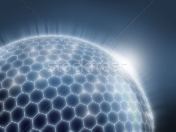 abstract sphere as a global network Stock photo © koya79
