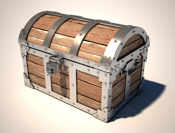 treasure chest 3d illustration Stock photo © koya79