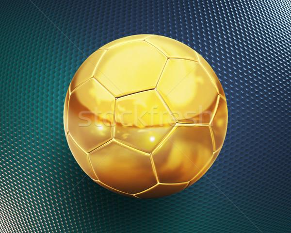 Altın futbol 3d illustration spor top egzersiz Stok fotoğraf © koya79