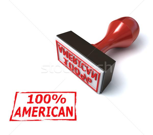 Yüz yüzde amerikan damga para model Stok fotoğraf © koya79