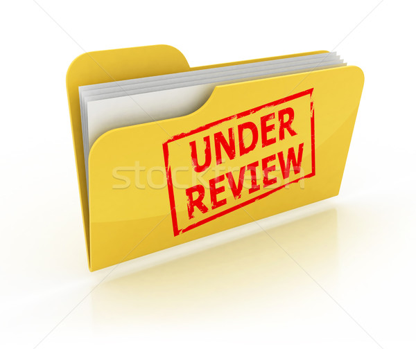 under review 3d icon Stock photo © koya79