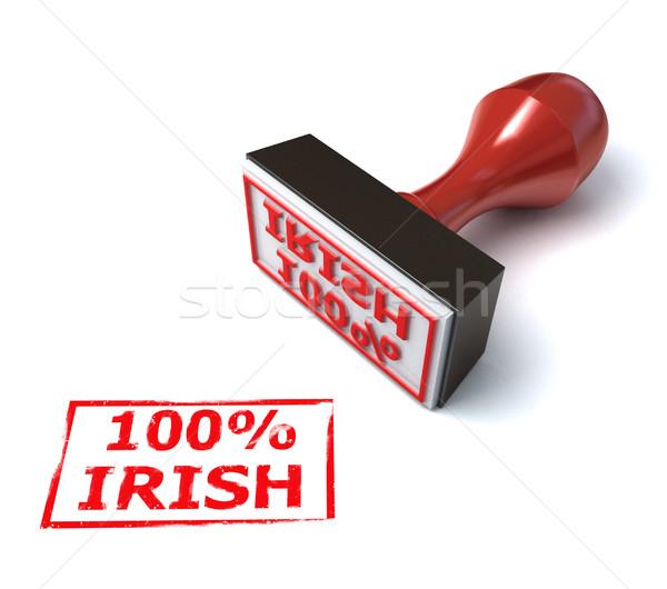 Yüz yüzde İrlandalı damga kâğıt mektup Stok fotoğraf © koya79