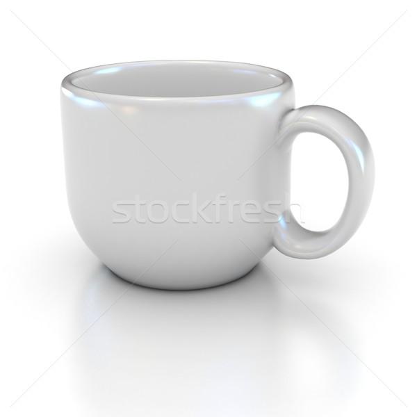 白 コーヒーカップ ロゴ 文字 家 チョコレート ストックフォト © koya79