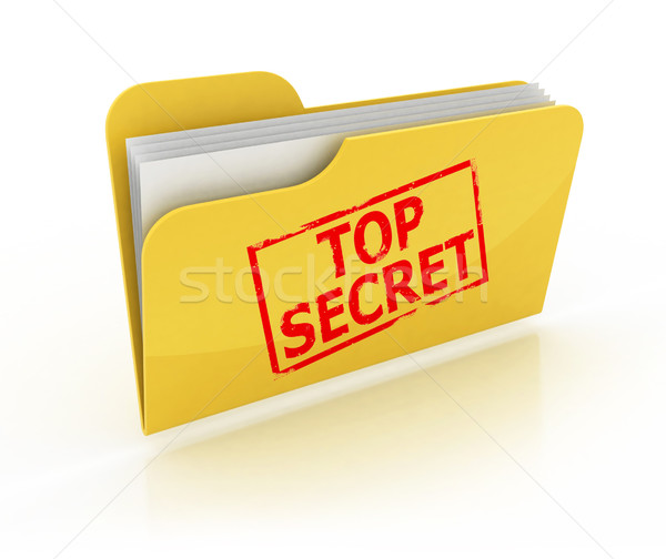 top secret folder icon Stock photo © koya79