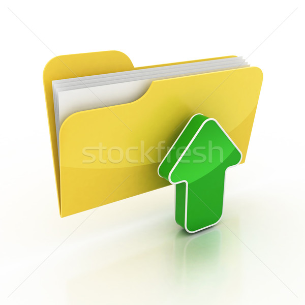 upload folder 3d icon Stock photo © koya79