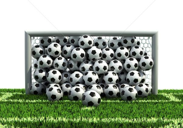 目標 フル サッカー フットボールの競技場 テクスチャ ストックフォト © koya79