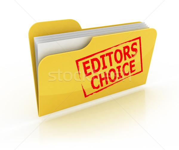 Seçim Klasör ikon beyaz kâğıt dizayn Stok fotoğraf © koya79