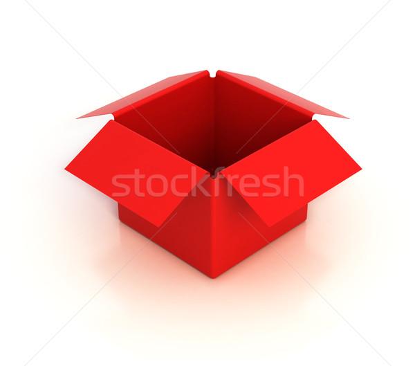 Rood lege vak 3d illustration papier mode Stockfoto © koya79