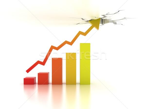 Negócio financeiro crescimento 3D dinheiro assinar Foto stock © koya79