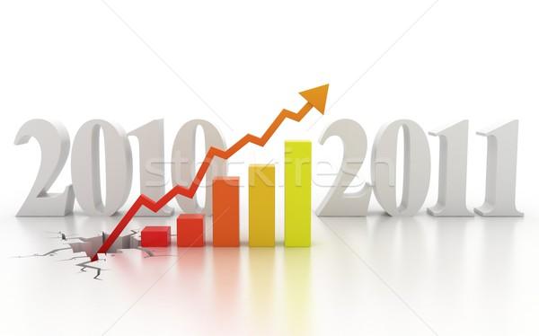 Business financiële groei 3D geld teken Stockfoto © koya79
