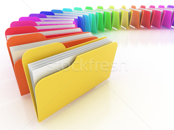 colorful folders Stock photo © koya79