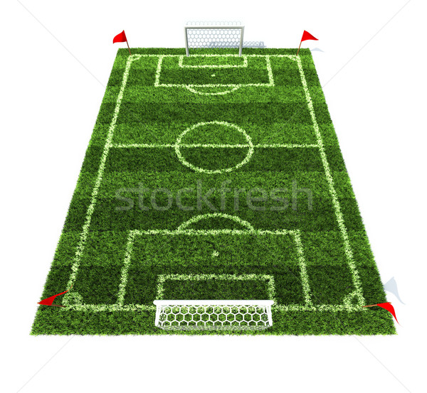 football field 3d illustration Stock photo © koya79