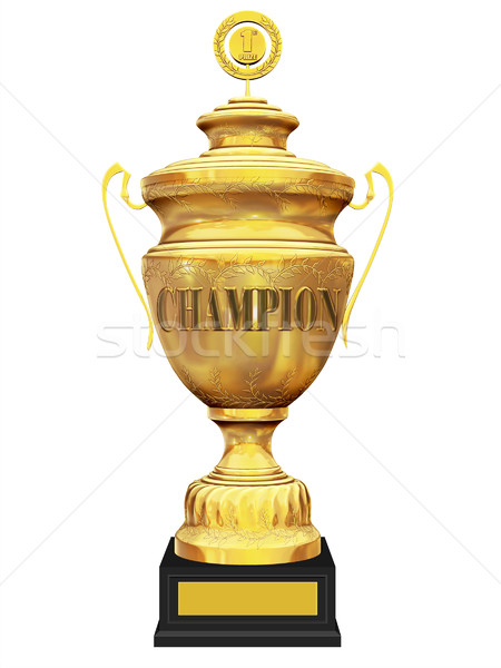 champion trophy on white background Stock photo © koya79