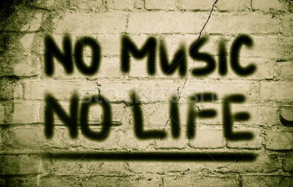 No Music No Life Concept Stock photo © KrasimiraNevenova